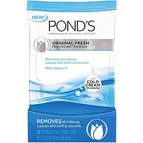 (Pond's Original Clean Wet Cleansing towelettes towelettes for Women, 15 Count)