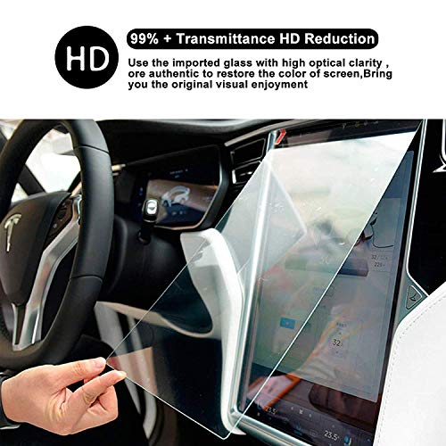 Tempered Glass Film Touch Screen Protector Ultra HD Clear Toughened Glass Protector Guard Shield Scratch-Resistant Extreme Clarity for Model S Model X (Toughened Glass)