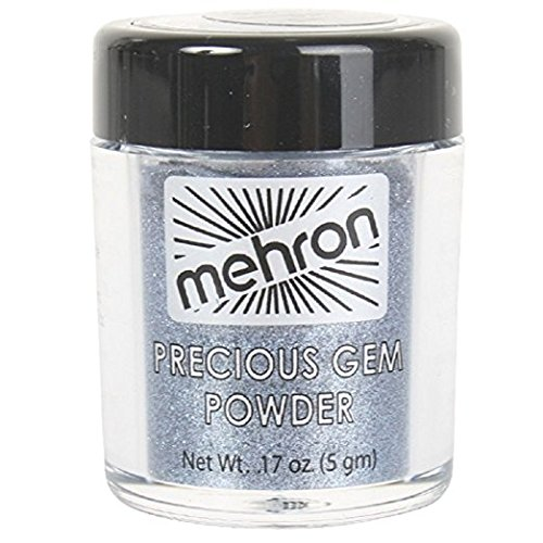 - Mehron Precious Gem Glitter Powder 0.17 Oz | Silky, Bright Colors, Shimmering & Sparkling Loose Eyeshadow | For Face, Body & Nails | Add Intensity, Improve Looks & Create Dramatic Effect (Sapphire)