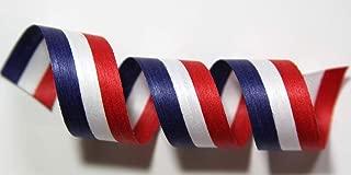 "product image for 100% Biodegradable Natural Ribbon   Prints & Stripes   Ribbon for Crafts   Cotton Curling Ribbon   Holiday Ribbon   Wrapping Ribbon   Eco-Friendly Ribbon (Patriot, 1/2"" x 100 Yards)"