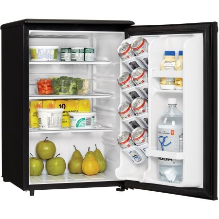 Danby Designer 2.6 cu ft All Refrigerator, Black, perfect fridge for spaces such as dormitory rooms and wet bars