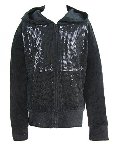 Velour Hoodie Jacket - 4