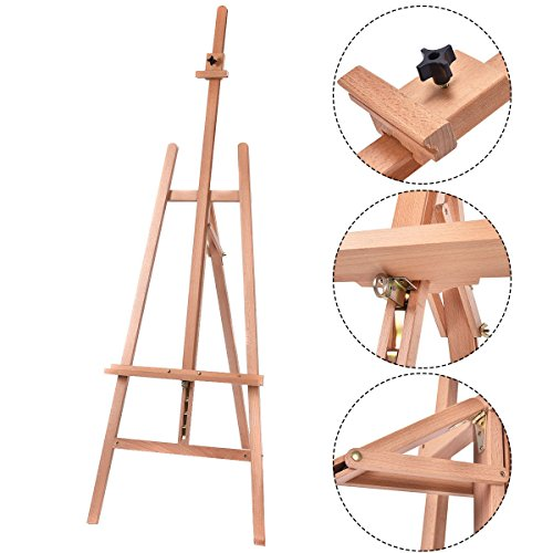 Heavy Duty Beech Wooden Adjustable Tripod Easel Sketch Painting Portable (Heritage Artist Tripod Easel)