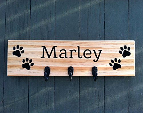 Pet Leash Holder (Personalized Dog Leash Holder, Dog Leash Holder Wall, Dog Leash Hook, Dog Leash Hooks, Pet Leash Holder, Dog Leash Hanger)