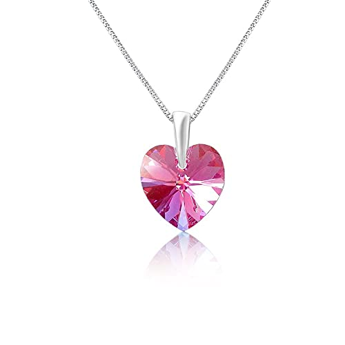 0803180827b5f Mahi with Swarovski Crystals Pink Heart Rhodium Plated 'Love for My  Valentine' Pendant for Women PS1194208RPin