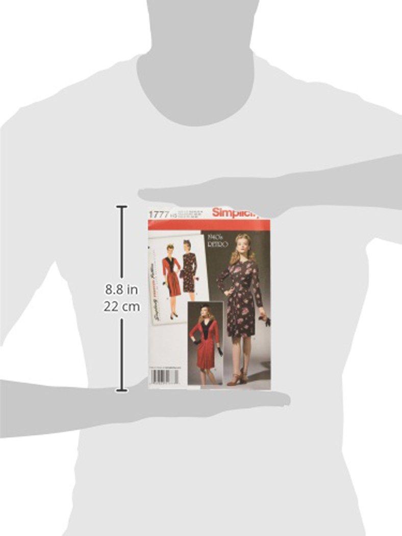 Simplicity 1777.H5 - Patrones de costura para vestidos estilo años ...