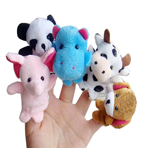 Mandy 10pcs Animal Finger Puppet Plush Early Education Toys