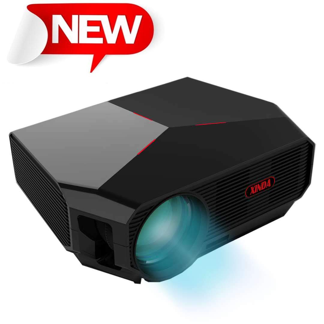 Projector,XINDA HD Video Projector 3800L Outdoor Movie Projector,200'' Home Theater Projector Support 1080P,Compatible with Fire TV Stick,PS4, HDMI, VGA, AV and USB by XINDA