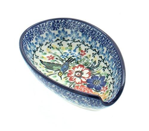 - Blue Rose Polish Pottery Hummingbird Small Spoon Rest