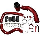 #6: BLACKHORSE-RACING Turbo Intercooler Pipe Boot Kit CAC Tubes + Air Intake Kit For Ford 6.0 Powerstroke 2003 2004 2005 2006 2007
