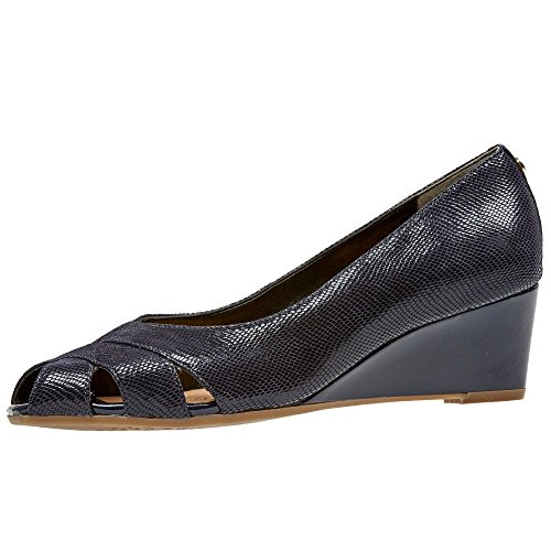 Van Dal Women's Paxton Wedge Heel Open Court Shoes 3 D UK/5 B(M) US Blue (Midnight)