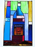 Wine Bottle Stained Glass Window Hanging Label From El Dorado Petite Sirah 02