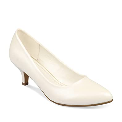 9aae3b89245 Escarpins BLANC GRANDS BOULEVARDS Femme Chaussea  Amazon.fr ...