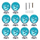 nautical cabinet knobs  10PCS 30MM Aqua Blue Bubbles Crystal Knobs Glass Cabinet Knobs Drawer Pulls Handle for Home, Cabinet, Drawer and Dresser, 3 Size Screws