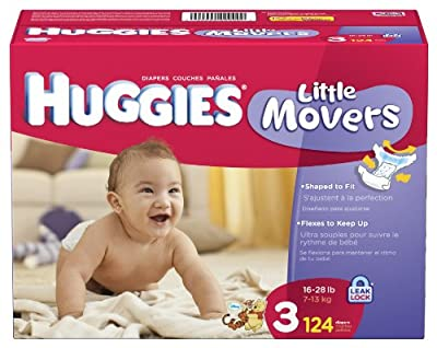 Huggies Little Movers Diapers, Size 3, 124-Count by Huggies