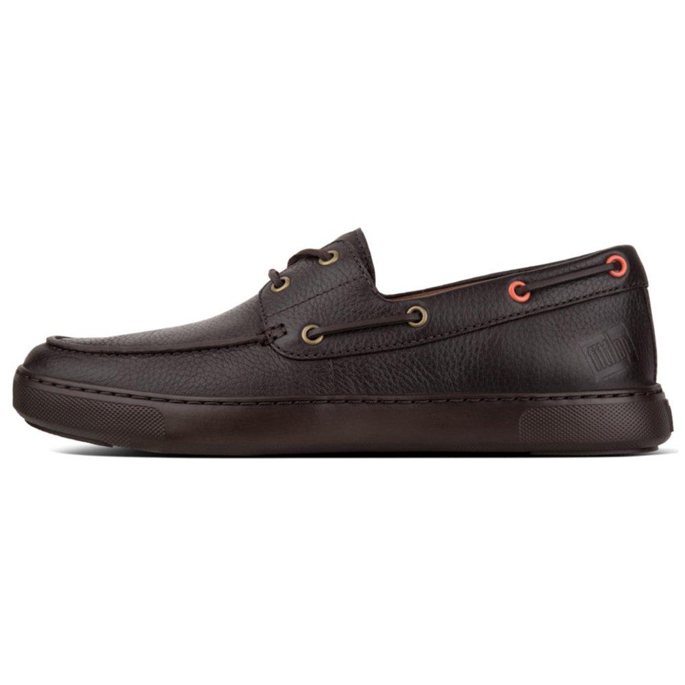 Fitflop Lawrence Boat Shoes, Mocasines para Hombre 42 EU Marrón (Chocolate 030)