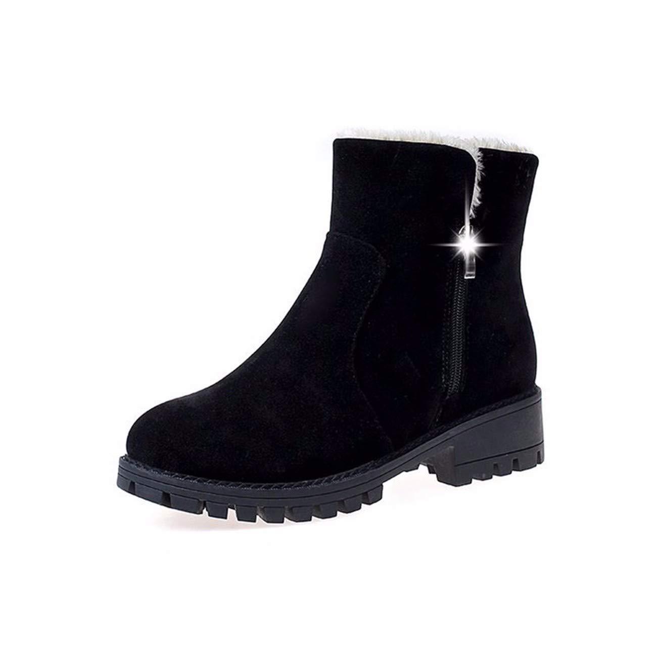 Martin Stiefel Koreanischen Version Kurz Stapelt Zwei Tragen Antiskid Damenschuhe Warm Im Winter Baumwolle Stiefel.