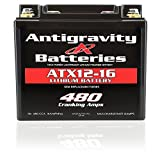 Antigravity Batteries YTX12-16 High Power Lithium Motorsports Battery, LEFT NEG TERMINAL, OEM Replacement Series