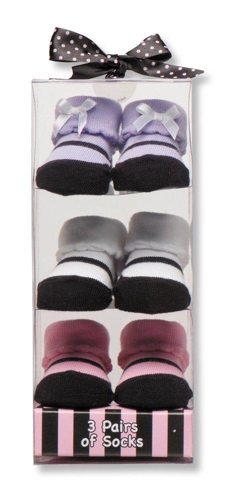 Baby Starters 3-Pack Sock Set - Pink Maryjane Motif