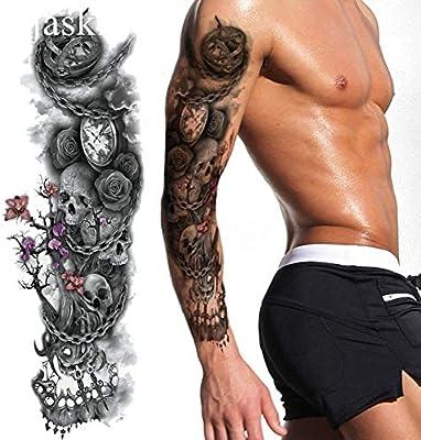 HXMAN Negro Deja Tatuaje Temporal Pegatina De Mujeres Fiesta De ...
