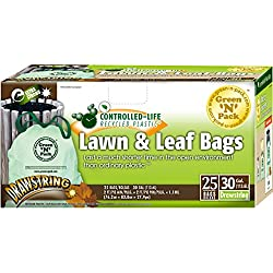 Green-n-Pack Lawn & Leaf Bags, Drawstring, 30 Gallon, 25-Count