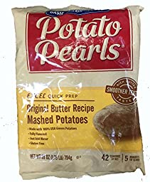 28 oz. Restaurant Quality! Potato Pearls 42 servings Real Potatoes Butter Recipe