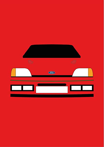 Ford Fiesta RS Turbo – Tarjeta de felicitación Retro Motor Company