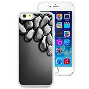 NEW Unique Custom Designed iPhone 6 4.7 Inch TPU Phone Case With Shiny Black Stones 3D_White Phone Case