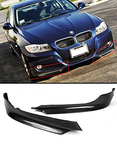 E90 Carbon Fiber - Fits for 2009-2012 BMW E90 E91 LCI 3 Series Sedan Wagon Carbon Fiber Front Bumper Splitters Only Fits Regular Non - M Bumper