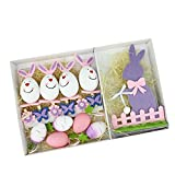 Northlight Set of 16 Pink, Purple and White Easter Egg, Flower & Bunny Spring Decorations