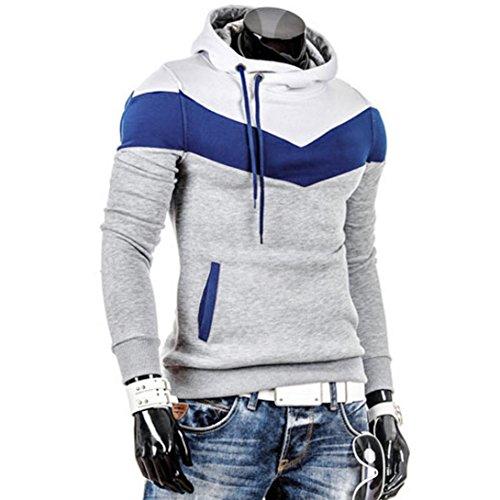 Sweatshirt Longues Outwear Retro Hoodie Hommes Tonsee® Manteau Chaude Hiver Veste Gris Manches pqnXt