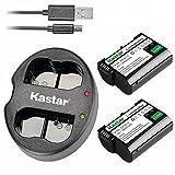 Kastar Battery (X2) & Dual Rapid Charger for Nikon EN-EL15, ENEL15 and Nikon 1 V1, D500, D600, D610, D750, D800, D7000, D7100, D800, D800E DSLR Camera, Grip MB-D11, MB-D12, MB-D14, MB-D15, MB-D16