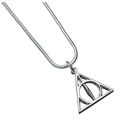 94bf768ed Official Harry Potter Deathly Hallows Symbol Silver Plated Necklace  Pendant: Amazon.co.uk: Jewellery