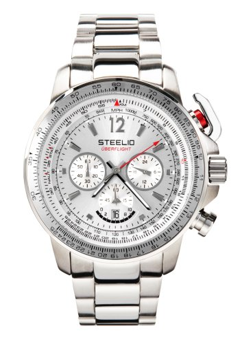 Steelio Men's Überflight Retrograde Chronograph (Moon Silver)