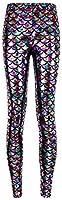 Alaroo Women Bling Mermaid Print Scale Leggings Pants Rainbow S