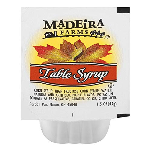 - Madeira Farms Table Syrup (1.5 oz Packets, Pack of 100)