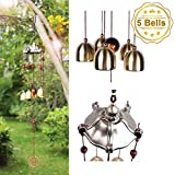 YESURPRISE Antique Wind Chimes Hanging Melody Bells for Outdoor Garden Home Decor Elegant Metal Wood Design Windchimes with Fair-Sounding Musical Scale Gifts for Kids Family - Inspirational Music Collection