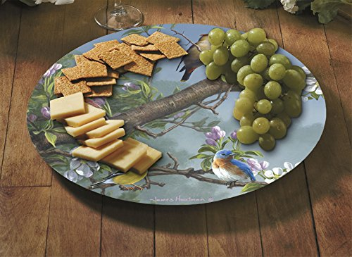 CounterArt Beautiful Songbirds Lazy Susan Glass Serving Plate by Counterart (Image #1)