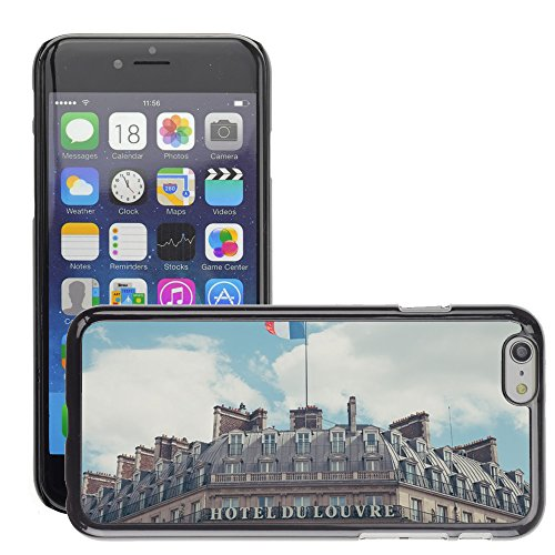 Hard plastica indietro Case Custodie Cover pelle protettiva Per // M00421569 Édifice Hôtel Classique architecture // Apple iPhone 6 6S 6G PLUS 5.5""