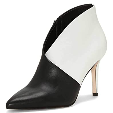 cd3173c133 XYD Women Closed Pointy Toe Ankle Boots Stiletto High Heels V Cut Patent  Leather Booties Size
