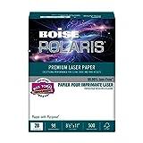 BOISE POLARIS PREMIUM LASER PAPER, 8 1/2'' x 11'', Letter, 98 Bright White, 28 lb., 3000 Sheets/Carton, 48 Cartons/Pallet