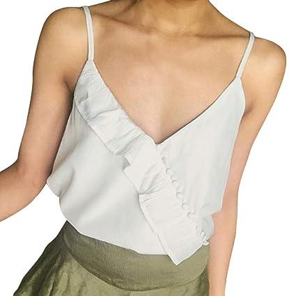 Plus Size Womens Eyelets Lace Up Vest T Shirt Blouse Ladies Sleeveless Tank Tops