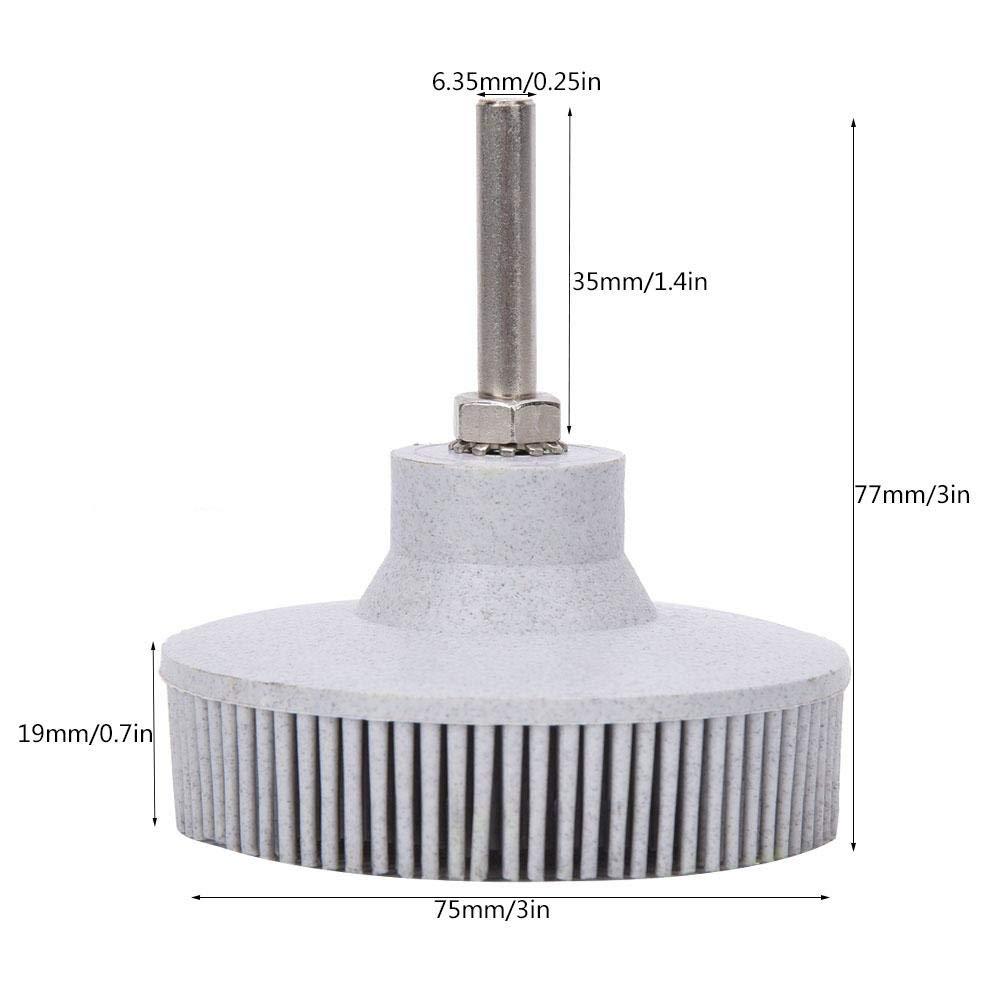 Disque de brosse /à poils Meule abrasive de polissage abrasif en caoutchouc de brosse de 3 pouces pour le retrait de rouille de bavure blanc