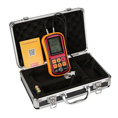 GM130 Digital Ultrasonic Thickness Gauge Depth Gauge Sound Velocity Meter Measuring Range 1.00~300mm With LCD Backlight (Ultrasonic Thickness Meters)