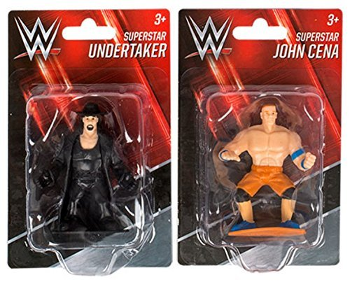 Kids Wrestling WWE Superstar Action Figures Cake Toppers Undertaker John Cena (Stuffed Toy Cena John)