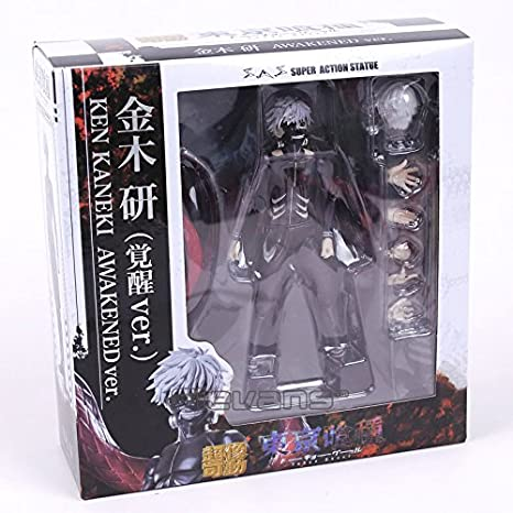 Amazon.com: Tokyo Ghoul Ken Kaneki Awakening Ver. PVC Action Figure Collectible Model Toy 16cm: Toys & Games
