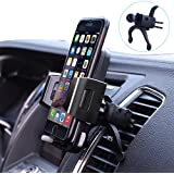 Lsmila Car Phone Mount, Air Vent Phone Holder For Car w/ Kickstand One-Touch Design 360 Rotation Car Phone Holder for iPhone X/8/8Plus/7/7Plus/6s/6P/5S,Galaxy S5/S6/S7/S8,Google Nexus,LG,Huawei