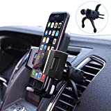 Car Phone Mount,Lsmila Universal Phone Holder For Car Air Vent w/ Kickstand,Firm Grip,One Touch Button,360 Degree Rotatable for iPhone 7/7 Plus/ 6s/6P,Galaxy S8 S7 ,LG,And All Cell phone&Smartphone