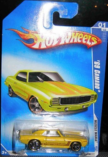 2009 HOT WHEELS '09 MUSCLE MANIA YELLOW '69 CAMARO for sale  Delivered anywhere in Canada