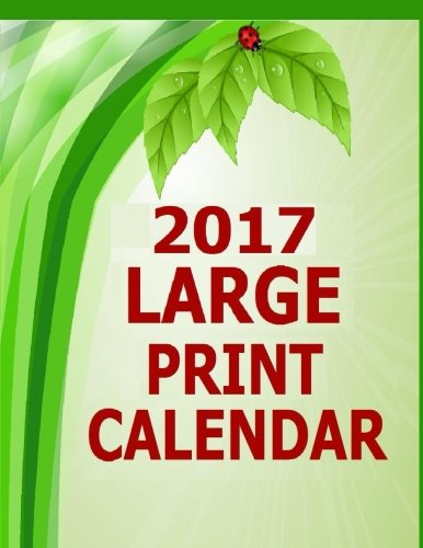2017 Large Print Calendar  14 Month Large Print Calendar For The Year 2017  Dated Calendar With Blank Squares To Write In For 2017  Starts In December 2016 And Ends In January 2018